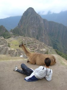 Two Friends at Machu Picchu